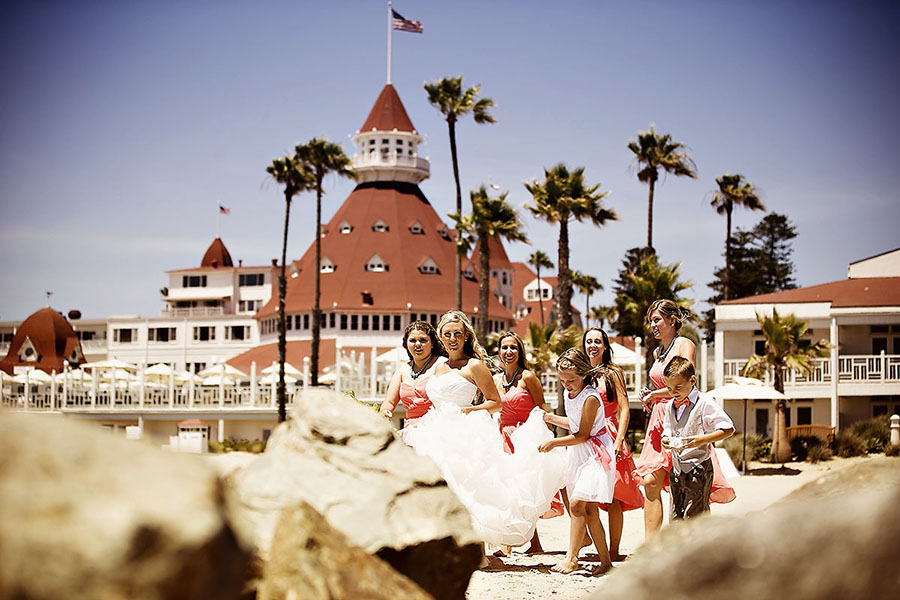 del coronado beach weddings